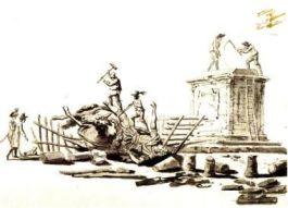 Vernieling van het standbeeld van Lodewijk XIV in Parijs (1792)