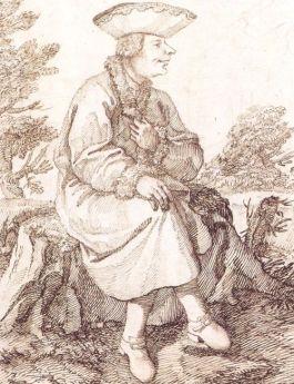 Karikatuur van Caffarelli door Pier Leone Ghezzi rond 1740