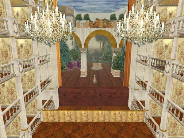 Virtuele reconstructie van de Ópera do Tejo