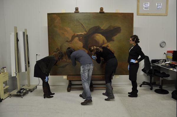 Eerste inspectie Pellegrini (Mauritshuis-Ivo Hoekstra)
