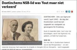 Doetinchems NSB-lid was 'fout maar niet verkeerd'