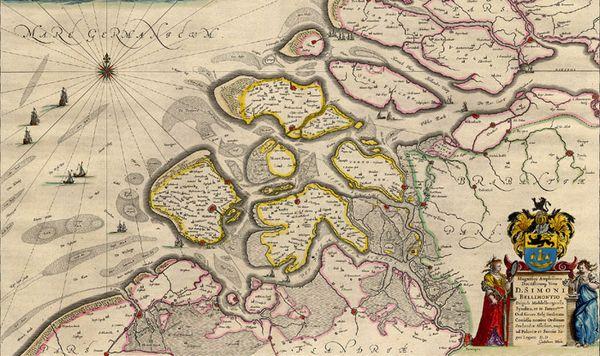 Kaart van Zeeland uit 1643 - Blaeu