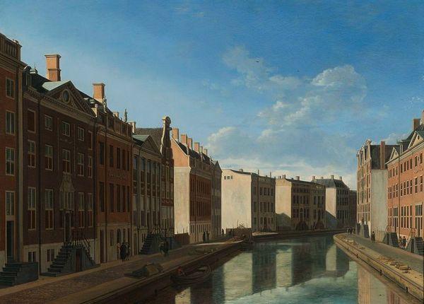 De bocht van de Herengracht - Gerrit Adriaensz. Berckheyde, 1671 (Rijksmuseum)