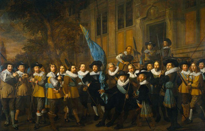 Schutters van de compagnie van kapitein Jan Claesz Vloos - Nicolaes Eliasz Pickenoy, 1642 (Rijksmuseum Amsterdam)