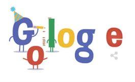 Doodle ter ere van de 16e verjaardag van Google
