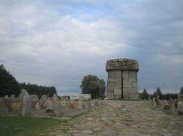 Treblinka, monument met gedenkstenen - cc