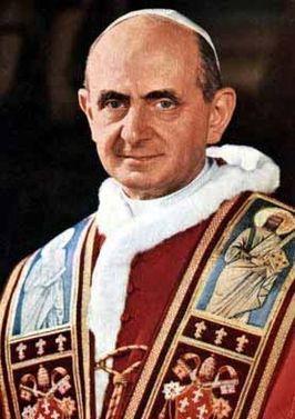 Paus Paulus VI in 1967