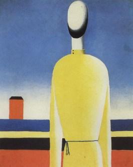 Kazimir Malevich, Een ingewikkeld voorgevoel (Torso in een geel shirt), olieverf op    doek, ca. 1932, Collectie Staats Russisch Museum, St. Petersburg