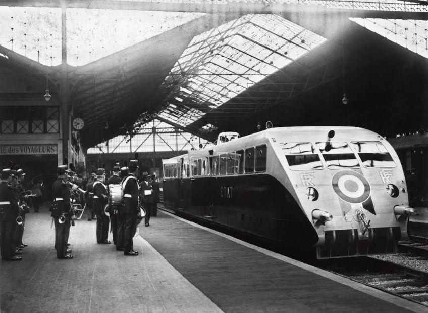 Vertrek presidentiële trein van Paris Saint-Lazare naar Cherbourg, 1933 (La Vie Du Rail / Photorail)
