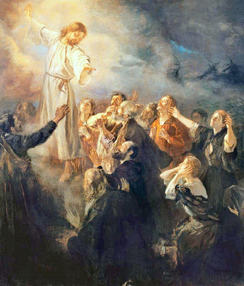 De hemelvaart van Christus - Fritz von Uhde, ca. 1908