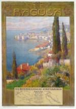 Affiche Ragusa (Dubrovnik) door Gustav Jahn, 1907