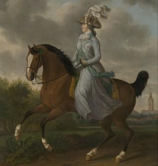 Wilhelmina van Pruisen te paard