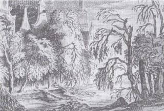 De 'door de vorst bevroren bomen langs de Amsterdamse grachten', voor het eerst gepubliceerd door Thomas van Donselaer en ook te vinden in 'Extreem weer!' van Jan Buisman.