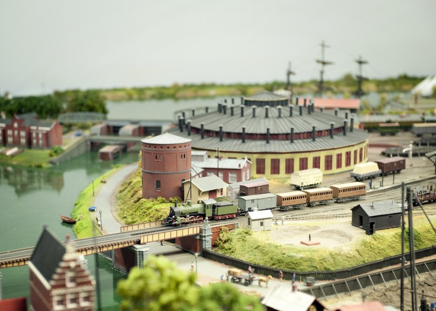 Modelbaan Amsterdam CS 1889 (Spoorwegmuseum)