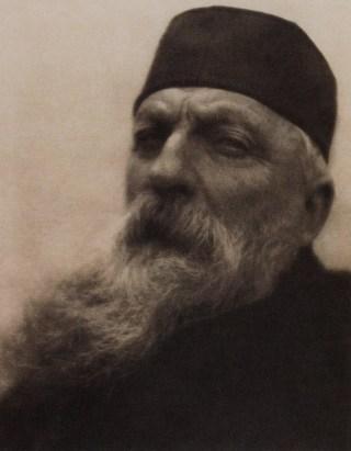 Auguste Rodin, gefotografeerd door Alvin Langdon Coburn, 1908