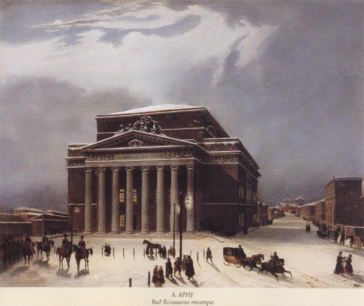 Bolsjojtheater in de vroege 19e eeuw