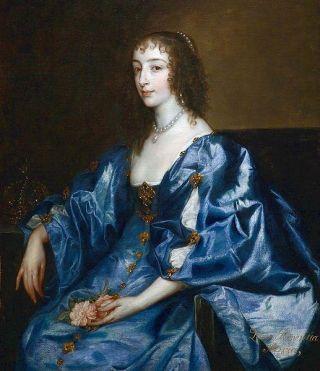 Koningin Henriëtte Maria door Antoon van Dyck