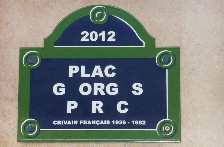 Maquette ter ere van Georges Perec in Parijs