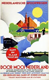 Affiche Mooi Nederland, Fré Drost, 1935 (coll. Arjan den Boer)