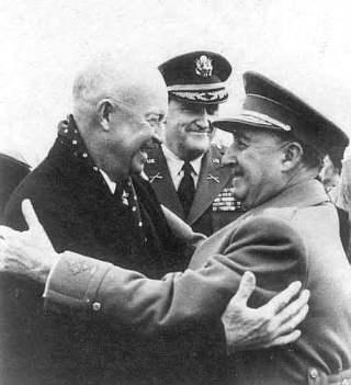 1959, Eisenhower ontmoet Franco