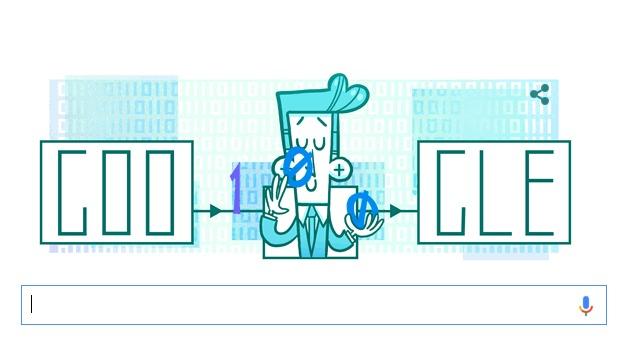 Claude Shannon in zonnetje gezet door Google