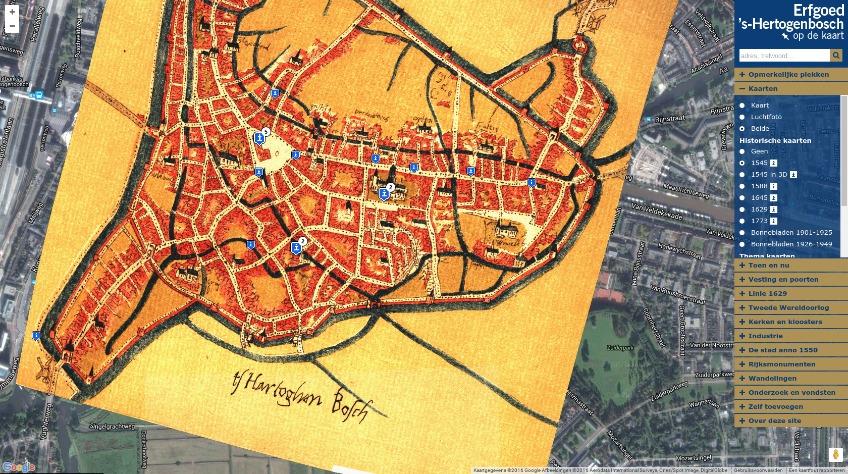 Erfgoed 's-Hertogenbosch op de kaart gezet
