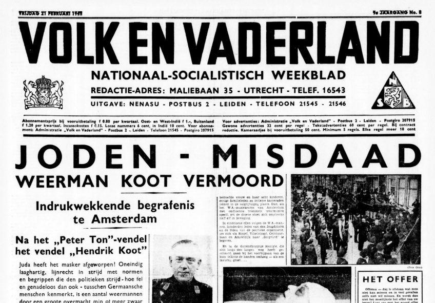 Wat Nederlandse nazi-kranten schreven in de Tweede Wereldoorlog