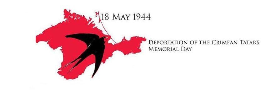 Embleem bij de herdenking van de deportatie van de Krim-Tatatren op 8 mei 1944.