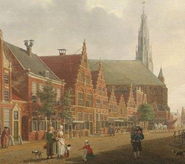 Nieuwstraat in Hoorn (1784) van Izaak Ouwater (WFM)