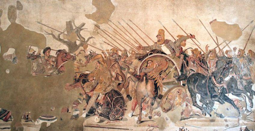 Het Alexandermozaïek uit Pompeii (Nationaal Archeologisch Museum, Napels)