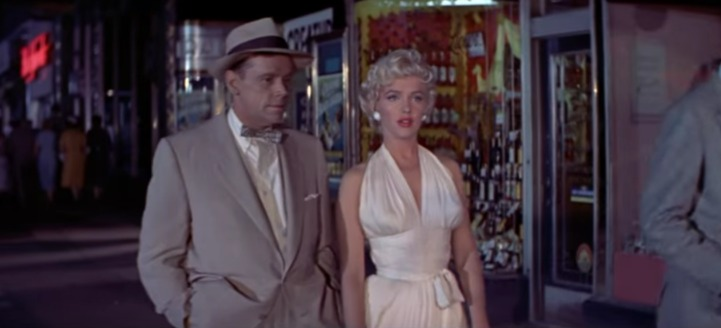Marilyn Monroe in The Seven Year Itch (Still YouTube)