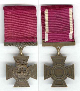 Willekeurige afbeelding van een Victoria Cross niet die van John Hollington Grayburn)