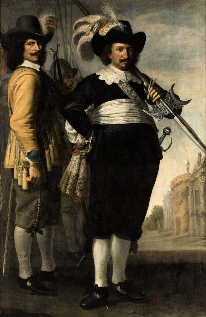 Portret van Willem Reyersz. de Langue en Daniël Fransz. van der Brugge | 1648 Jacob Delff II