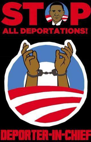 Protest-poster tegen de deportaties