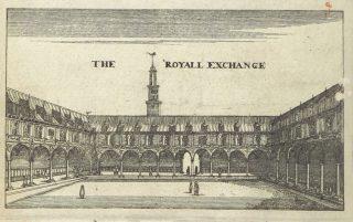 The royall exchange, getekend in 1668