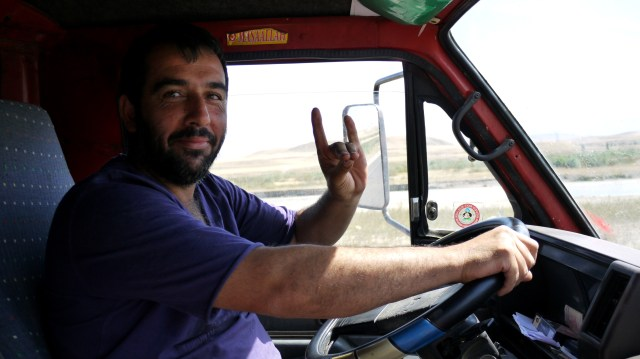 One of our drivers - On the road, Turkey