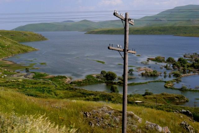 Green hills and blue lake - Southern Armenia
