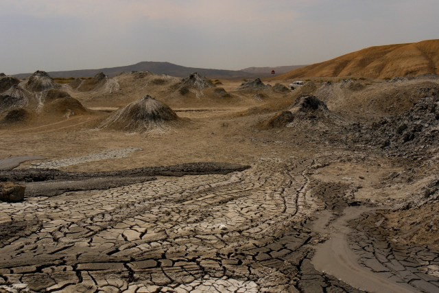 Moon-like landscape of the mud volcanoes - Gobustan National Park, Azerbaijan (17)