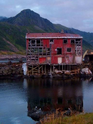An abandoned house in Nyksund, Lofoten Islands, Norway