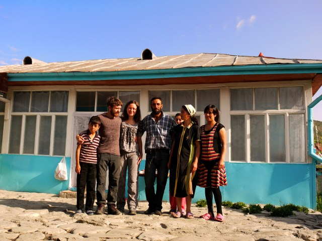 Poor but friendly, the lovely Azeri family that hosted us - Lahıc, Azerbaijan