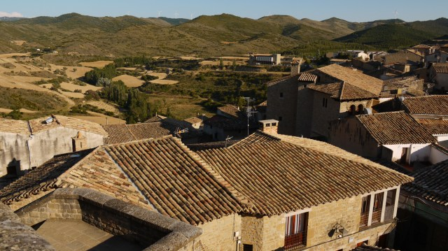 View over the medieval town of Sos - Sos del Rey Catolico, Spain