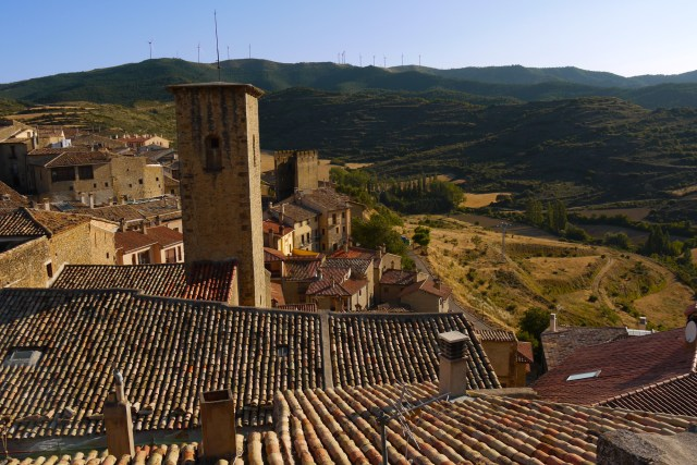 View across the rooftops and surrounding hills - Sos del Rey Catolico, Spain