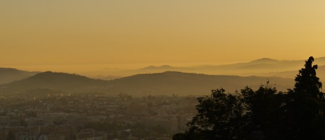 Braga and surrounding hills at dusk, seen from Bom Jesus do Monte - Braga, Portugal (70)