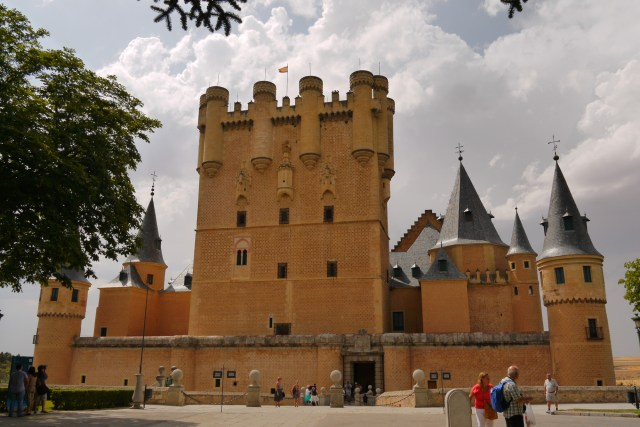 Entrance and front façade of Alcazar castle - Segovia, Spain (116)