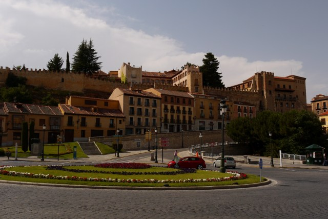 Plaza on the other side of Acueducto - Segovia, Spain (131)