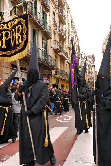 Good Friday Procession, Barcelona, Spain. Easter processions in Spain