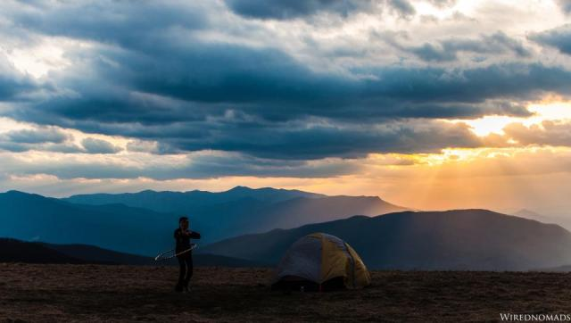 WiredNomads - camping in the mountains in North Carolina, USA