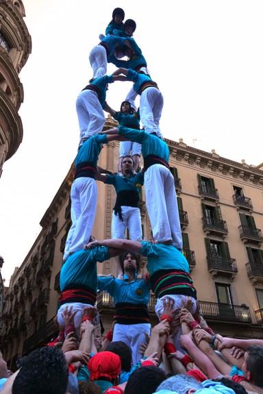 Castell - Castellers de la Sagrada Familia - Portal del Ángel, barcelona, Spain (27)