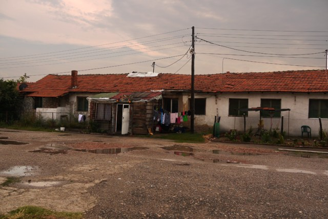 Houses near the old Nazi concentration camp in Nis, Serbia