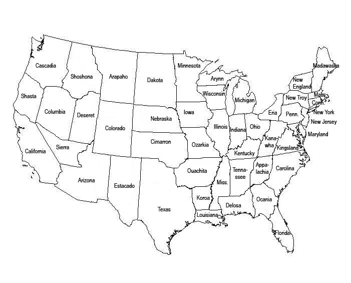 Map Usa States Without Names Maps Of USA California Outline Maps - Us map of states without names
